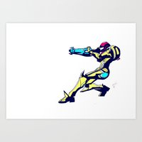 Samus Aran Color / Metro… Art Print