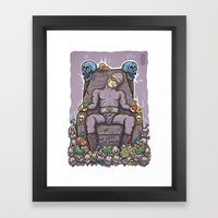 THE GHOST WHO SNACKS Framed Art Print