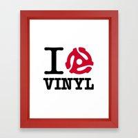 I Heart Vinyl Framed Art Print