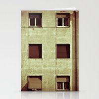 Windows with man Stationery Cards