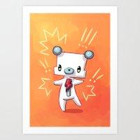 Dancing Bear Art Print