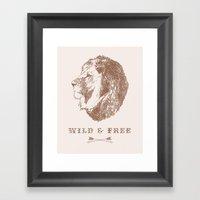 WILD & FREE Framed Art Print