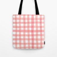 Gingham Watermelon Tote Bag