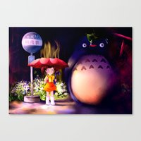 Canvas Print featuring Totoro by Peach Momoko