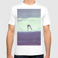 IT'S ALWAYS BETTER UNDER WATER Mens Fitted Tee White SMALL
