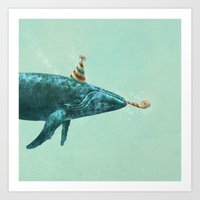 Party Whale  Art Print