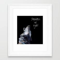 Sometimes at night Framed Art Print