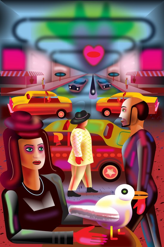 Taxi Stand Art Print
