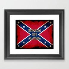 Heritage, not Hatred - US Southern Cross Flag Framed Art Print