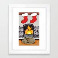 Canine Christmas (Firesi… Framed Art Print