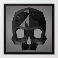 Black skull low poly Canvas Print