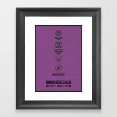 Unbreakable - minimal poster Framed Art Print