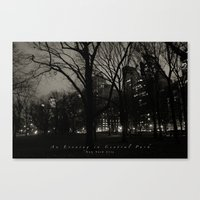 An Evening in Central Park, NYC Canvas Print