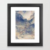 Tulle Mountains Framed Art Print