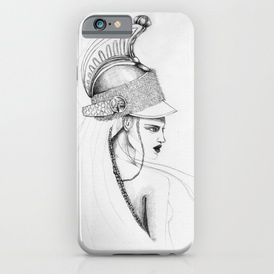Girl & Helmet iPhone & iPod Case