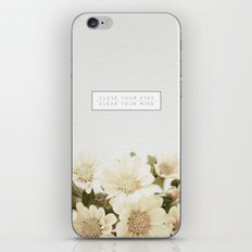 Close Your Eyes | Clear Your Mind iPhone & iPod Skin