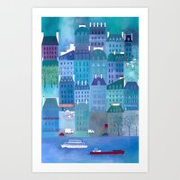 Paris Blues Art Print
