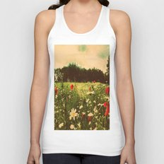 Poppies In Pilling  Unisex Tank Top