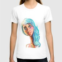 She'd be standing next to me.  Womens Fitted Tee White SMALL