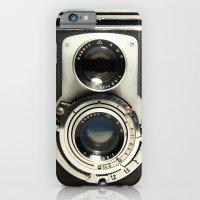 camera iPhone & iPod Cases featuring Vintage Camera by Ewan Arnolda