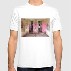 Pink Mens Fitted Tee SMALL White