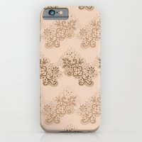iPhone & iPod Case featuring Brown Lace by Katya Zorin