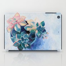 Pastel Succulents - an oil painting on canvas iPad Case