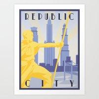 Republic City Travel Pos… Art Print