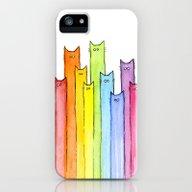 Rainbow Of Cats iPhone (5, 5s) Slim Case