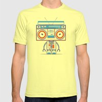 Music robot Mens Fitted Tee Lemon SMALL