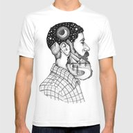 BEARDED MAN Mens Fitted Tee White MEDIUM