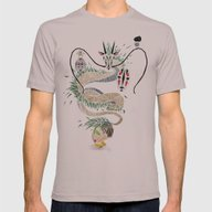 Spirited Away Mens Fitted Tee Cinder X-LARGE