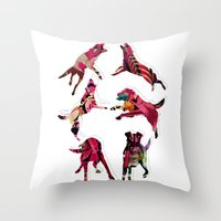 perros Throw Pillow