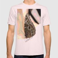 Bulls Eye Butterfly Mens Fitted Tee Light Pink SMALL