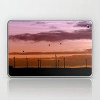 Wind power plant at dawn Laptop & iPad Skin