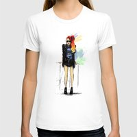 Flamboyante ! Womens Fitted Tee White SMALL