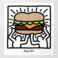 Pop Art Burger #1 Art Print