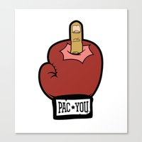 Pac You Canvas Print