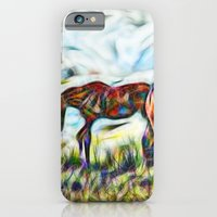 Abstract Horses In Paddo… iPhone 6 Slim Case
