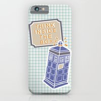 iPhone & iPod Case featuring think inside the box by flying bathtub