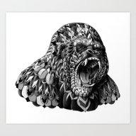 Art Print featuring Gorilla by BIOWORKZ