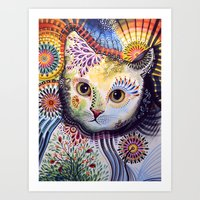 Lucy ... Abstract Cat Ar… Art Print