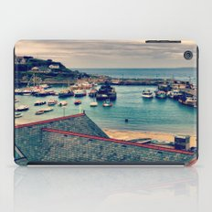 Grey Clouds Above The Ferocious Water  iPad Case