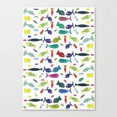 Happy colourful fish  Canvas Print