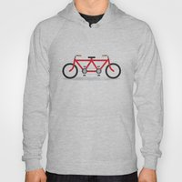 Broken Teamwork Tandem Bicycle Hoody