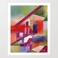 The Village That Grew Up… Art Print