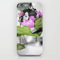 iPhone Cases featuring Lotus by SEVENTRAPS