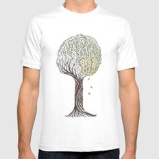 season tree White Mens Fitted Tee SMALL