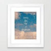Lovely Day for a Daydream Framed Art Print