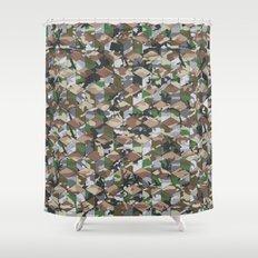 CUBOUFLAGE MULTI (MEDIUM) Shower Curtain